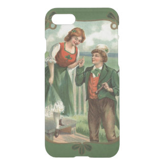 Shamrock irlandais de Shillelagh de couples Coque iPhone 8/7