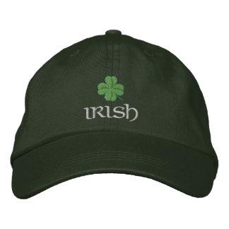 Shamrock irlandais patriotique casquette brodée