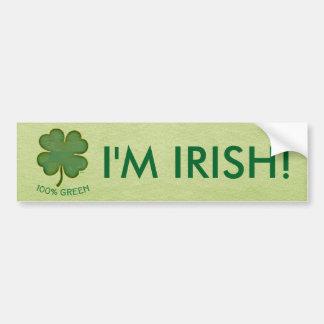 Shamrock irlandais - vert de 100% autocollant de voiture
