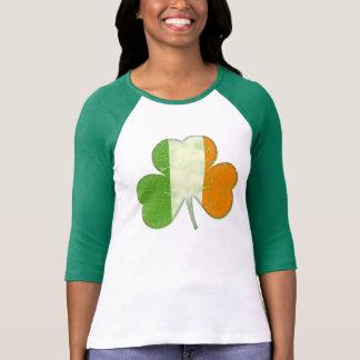 Shamrock irlandais vintage de drapeau t-shirt