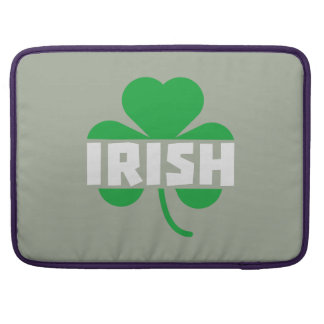 Shamrock irlandais Z2n9r de feuille de trèfle Poche Pour Macbook Pro
