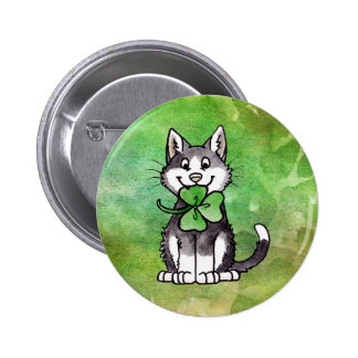 Shamrock Kitty Badge