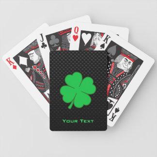 Shamrock lisse cartes de poker