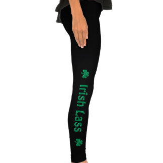 Shamrock pour la jeune fille irlandaise leggings
