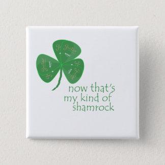 Shamrock vert d'onglet de guitare badge