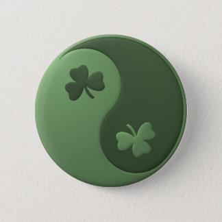 Shamrocks de Yin Yang Badge