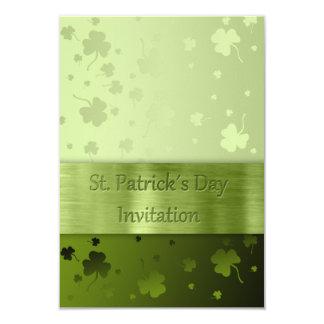 Shamrocks du jour de St Patrick noble - invitation