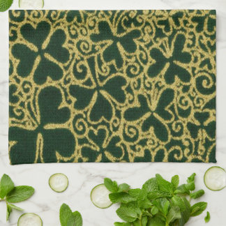 Shamrocks en filigrane d'or serviette pour les mains