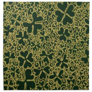 Shamrocks en filigrane d'or serviettes en tissus