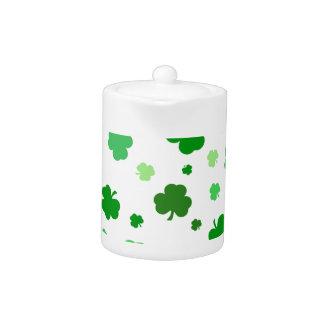 Shamrocks irlandais verts
