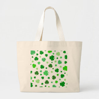 Shamrocks irlandais verts grand tote bag