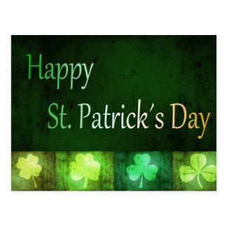 Shamrocks sales du jour de St Patrick - carte Carte Postale