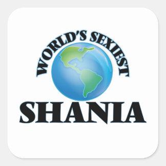 Shania le plus sexy du monde sticker carré