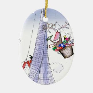 ShardArt Poussée-Ho par Fernandes élégant Ornement Ovale En Céramique