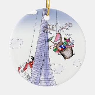 ShardArt Poussée-Ho par Fernandes élégant Ornement Rond En Céramique