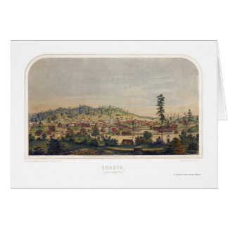 Shasta, carte panoramique de CA - 1856