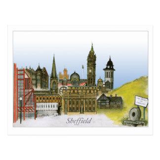 Sheffield - Yorkshire du sud, fernandes élégants Cartes Postales