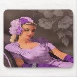 Sheila - les années 1940 même l'usage dans le lila tapis de souris