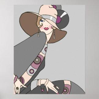 Shelby, Madame des années 1920 dans le gris et s'e Affiches