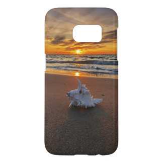 Shell à la plage à l'île du coucher du soleil | coque samsung galaxy s7