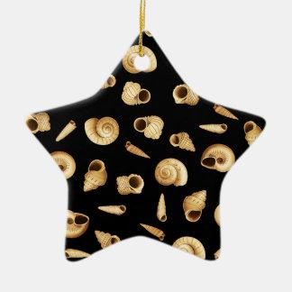 Shell modèlent ornement étoile en céramique