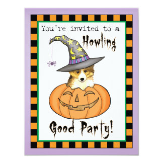 Sheltie Halloween Carton D'invitation 10,79 Cm X 13,97 Cm
