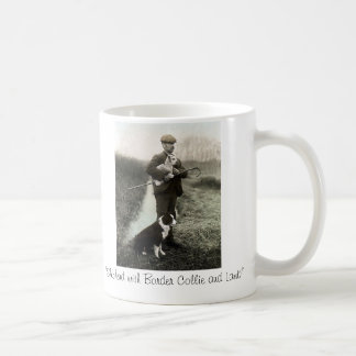 """Shepherd avec le ~Mug de border collie et Mug Blanc"