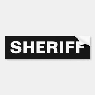 SHÉRIF - adhésif pour pare-chocs blanc de logo Autocollant De Voiture