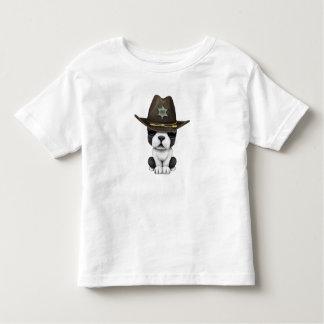 Shérif mignon de chiot de bouledogue français t-shirt pour les tous petits