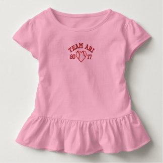 Shir de ruche de coeur de base-ball d'enfant en t-shirt pour les tous petits