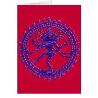 Shiva la carte de voeux cosmique de danseur