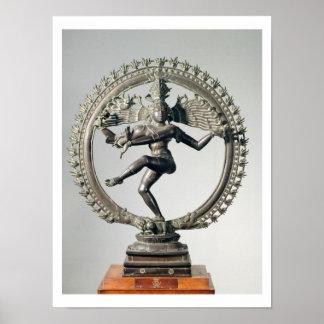 Shiva Nataraja, Tamil Nadu, défunt Chola (bronze) Poster