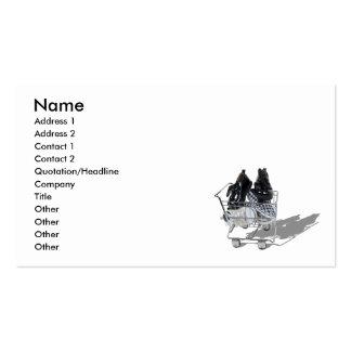 ShoeShopping101610, nom, adresse 1, adresse 2,… Carte De Visite Standard