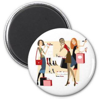 Shopaholic Magnet Rond 8 Cm