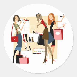 Shopaholic Sticker Rond