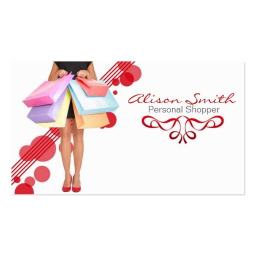 Shopper personnel business card cartes de visite professionnelles