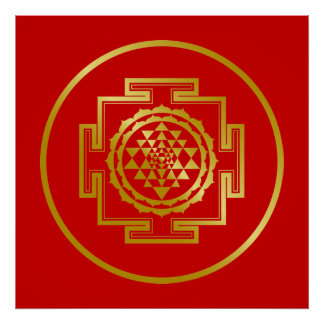 Shree d'or Yantra Posters