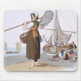 "Shrimper femelle, de ""costume de la Grande-Bretagn Tapis De Souris"