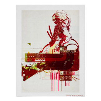 SHWANN : Les samouraïs futuristes DJ Poster