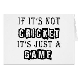 Si ce n'est pas cricket c'est juste un jeu cartes