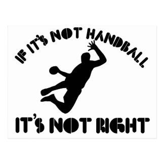 Si ce n'est pas handball il n'est pas exact carte postale