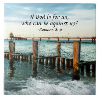 Si Dieu est pour nous qui peuvent être contre nous Carreau