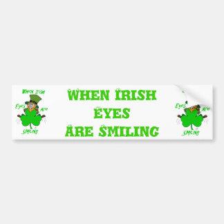 Si irlandais les yeux sourient autocollant de voiture