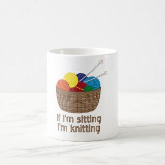 Si je suis se reposant moi tricote mug magic