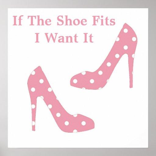 Si la chaussure adapte l'affiche rose