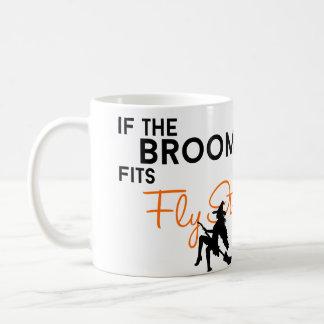 Si le balai s'adapte, pilotez-le mug blanc