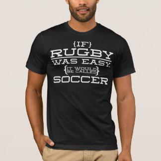 Si le rugby était facile (foncé) t-shirt