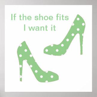 Si les ajustements de chaussure je le veulent affi posters
