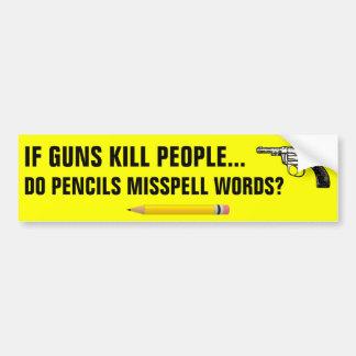Si les personnes de mise à mort d'armes à feu font autocollant de voiture