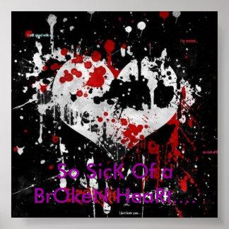 Si malade d'un coeur brisé…. affiche